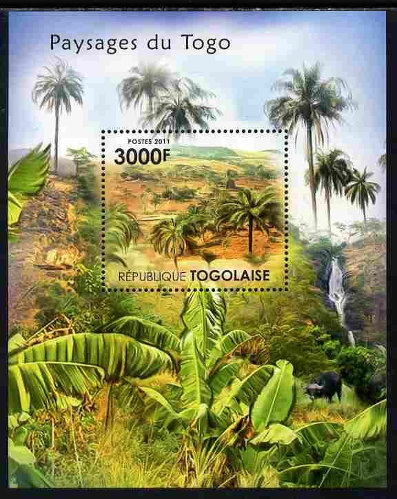 Togo 2011 Landscapes of Togo perf s/sheet unmounted mint