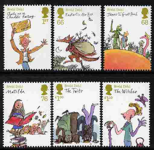 Great Britain 2011 Roald Dahl Anniversary perf set of 6 values unmounted mint
