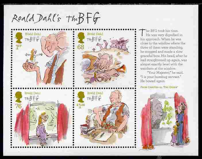 Great Britain 2011 Roald Dahl Anniversary perf m/sheet unmounted mint