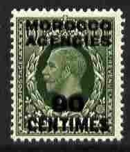 Morocco Agencies - French Currency 1935-37 KG5 90c on 9d deep olive-green unmounted mint, SG 222