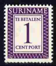 Surinam 1956 Postage Due 1c deep lilac unmounted mint, SG D436 (Blocks available price pro-rata)