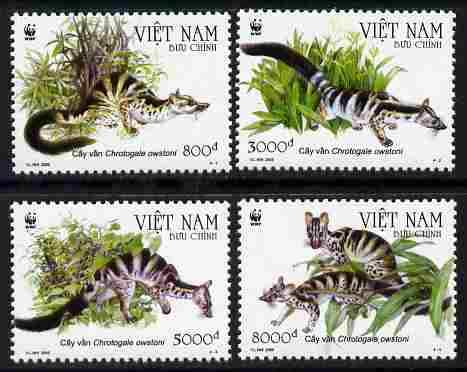 Vietnam 2005 WWF - Banded Civet perf set of 4 unmounted mint
