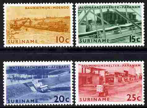 Surinam 1965 Opening of Brokopondo Power Station set of 4 unmounted mint, SG 563-66