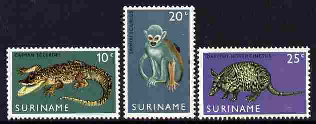 Surinam 1969 Opening of Surinam Zoo set of 3 unmounted mint, SG 652-4