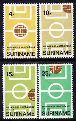 Surinam 1970 Football Association set of 4 unmounted mint, SG 679-82
