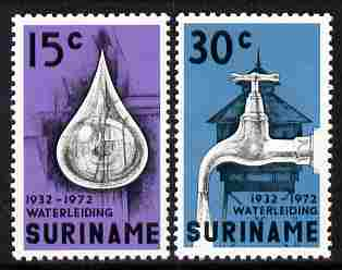 Surinam 1972 Waterworks set of 2 unmounted mint, SG 713-14