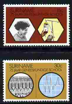 Surinam 1974 Medical School set of 2 unmounted mint, SG 770-71
