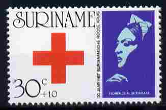 Surinam 1973 30th Anniversary of Red Cross 30c + 10c unmounted mint, SG 753