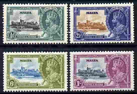 Malta 1935 KG5 Silver Jubilee set of 4 mounted mint, SG 21-13