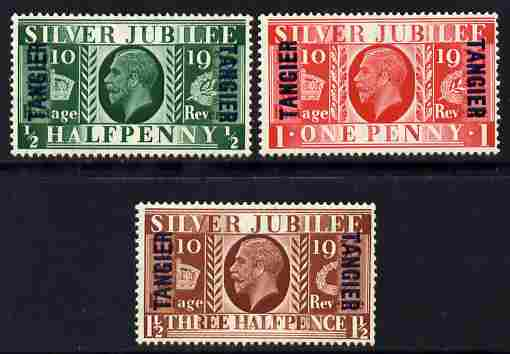 Morocco Agencies - Tangier 1935 KG5 Silver Jubilee set of 3 mounted mint, SG 238-40