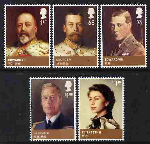 Great Britain 2012 The House of Windsor perf set of 5 unmounted mint , stamps on royalty