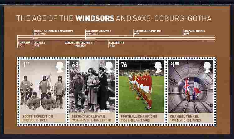 Great Britain 2012 The Age of the Windsors perf m/sheet unmounted mint