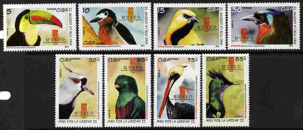 Cuba 2011 Birds perf set of 8 unmounted mint