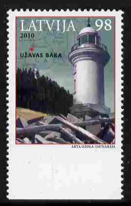 Latvia 2010 Lighthouse 98s value unmounted mint