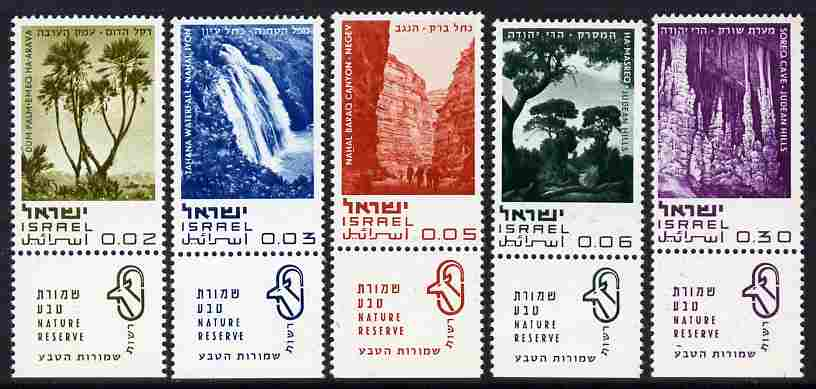 Israel 1970 Nature Reserves set of 5 with tabs unmounted mint, SG 432-36*