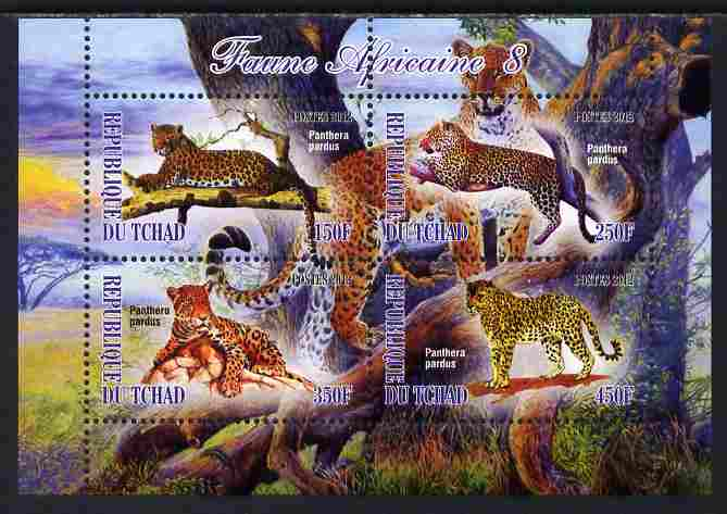 Chad 2012 African Fauna #08 perf sheetlet containing 4 values unmounted mint