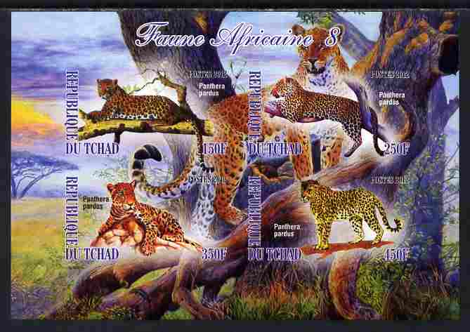 Chad 2012 African Fauna #08 imperf sheetlet containing 4 values unmounted mint