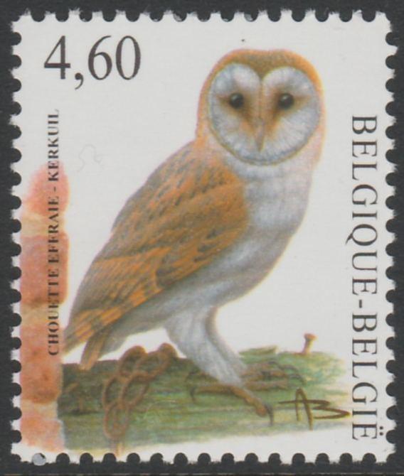 Belgium 2010-14 Birds - Barn Owl 4.60 Euro unmounted mint