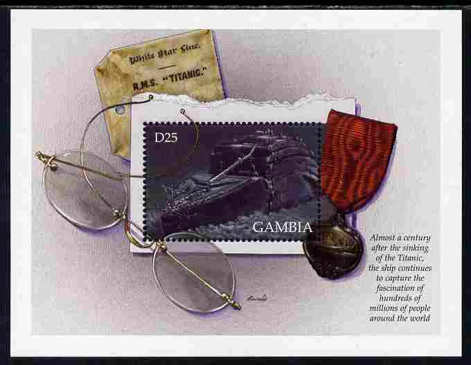 Gambia 1998 RMS Titanic Commemoration perf m/sheet #3 unmounted mint SG MS 2927c