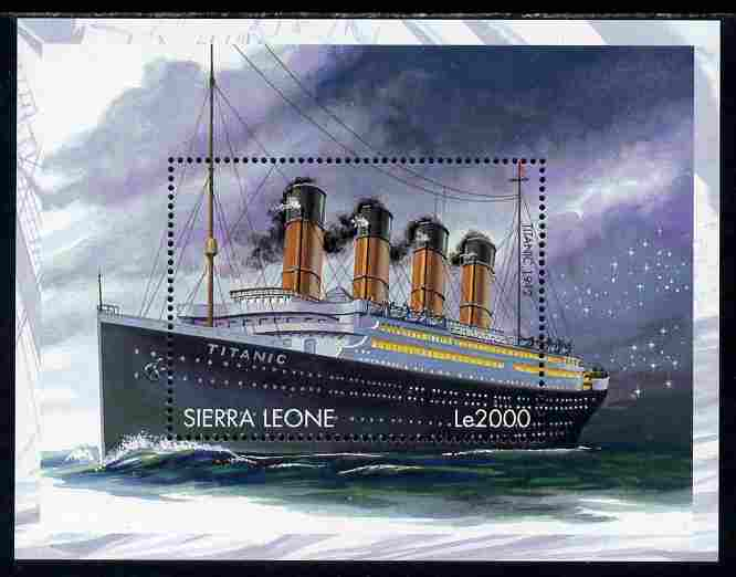 Sierra Leone 1998 Ships of the World - RMS Titanic perf m/sheet unmounted mint SG MS 2917b