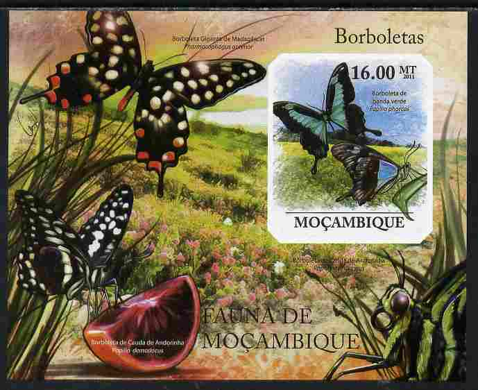 Mozambique 2011 Butterflies #1 imperf m/sheet unmounted mint. Note this item is privately produced and is offered purely on its thematic appeal