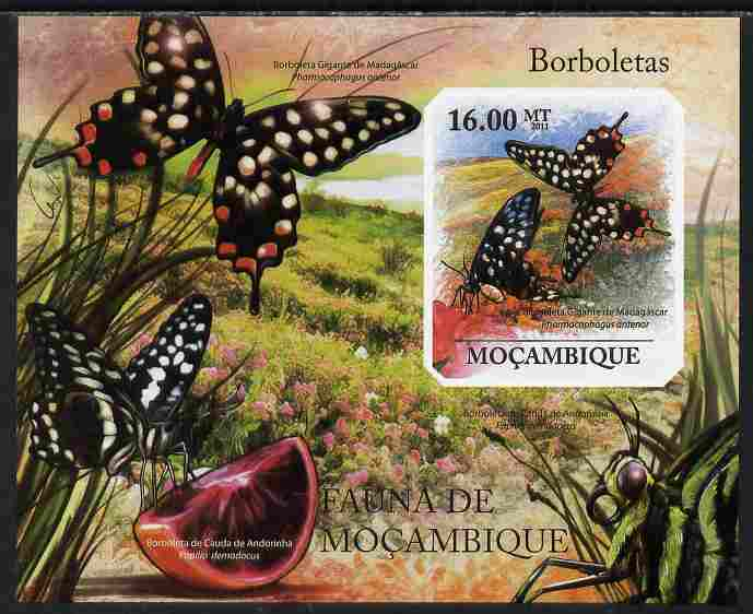 Mozambique 2011 Butterflies #3 imperf m/sheet unmounted mint. Note this item is privately produced and is offered purely on its thematic appeal