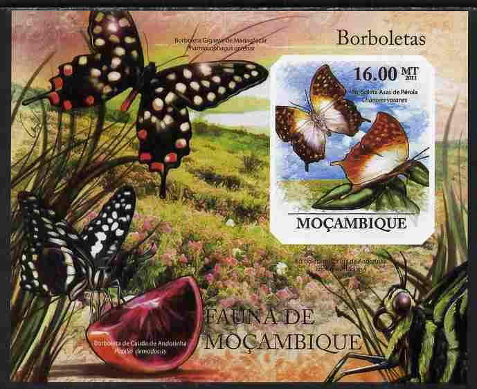 Mozambique 2011 Butterflies #4 imperf m/sheet unmounted mint. Note this item is privately produced and is offered purely on its thematic appeal