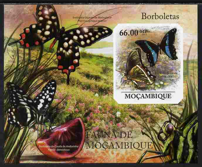 Mozambique 2011 Butterflies #5 imperf m/sheet unmounted mint. Note this item is privately produced and is offered purely on its thematic appeal