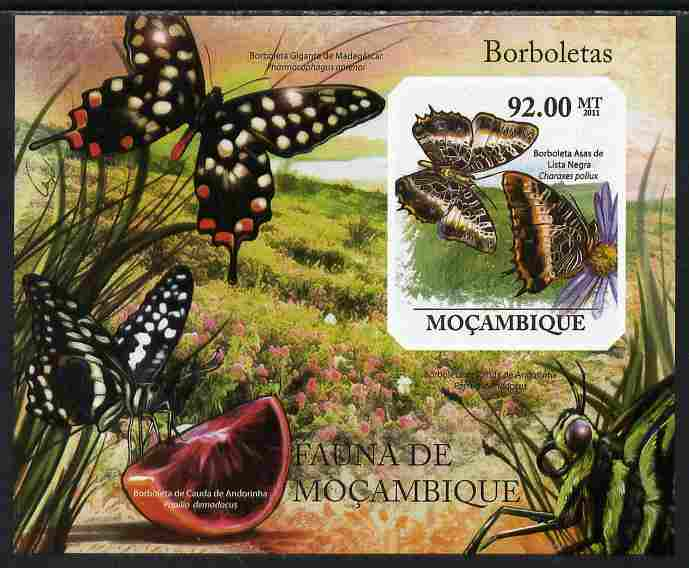 Mozambique 2011 Butterflies #6 imperf m/sheet unmounted mint. Note this item is privately produced and is offered purely on its thematic appeal
