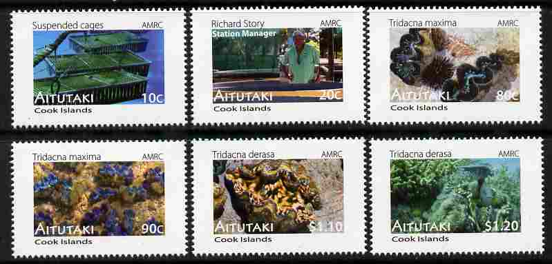 Cook Islands - Aitutaki 2011 Clams perf set of 6 values unmounted mint
