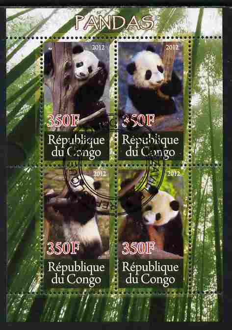 Congo 2012 Pandas perf sheetlet containing 4 values cto used