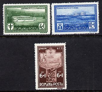 Rumania 1932 Postal Employees Fund set of 3 unmounted mint,  SG 1265-67