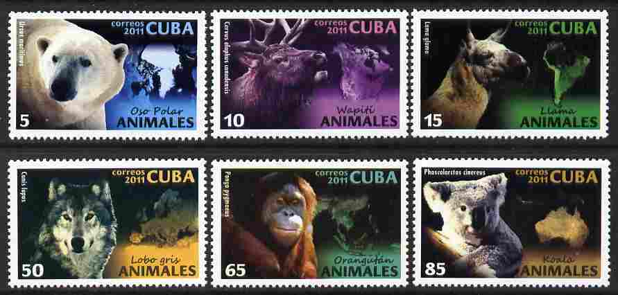Cuba 2011 Animals perf set of 6 values unmounted mint