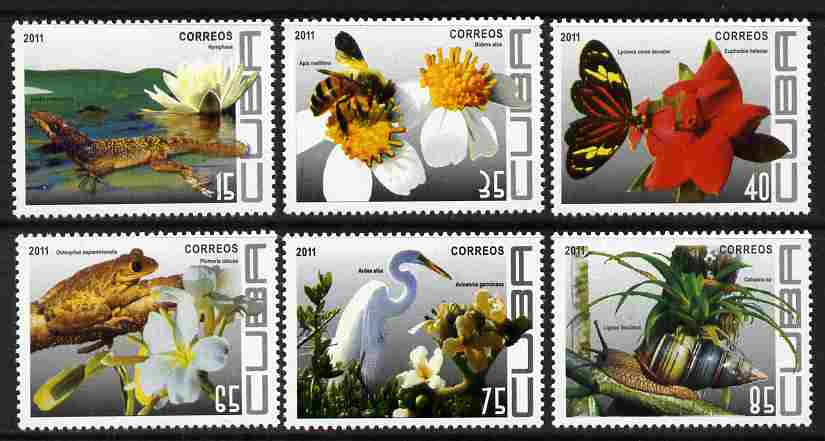Cuba 2011 Flora & Fauna perf set of 6 values unmounted mint