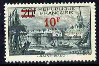 France 1940-41 19f on 20f St Malo unmounted mint