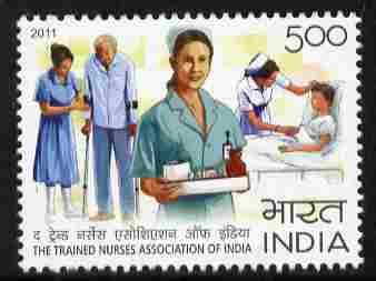 India 2011 Nurses Association 5r unmounted mint