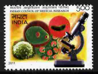 India 2011 Council of Medical Research 5r unmounted mint