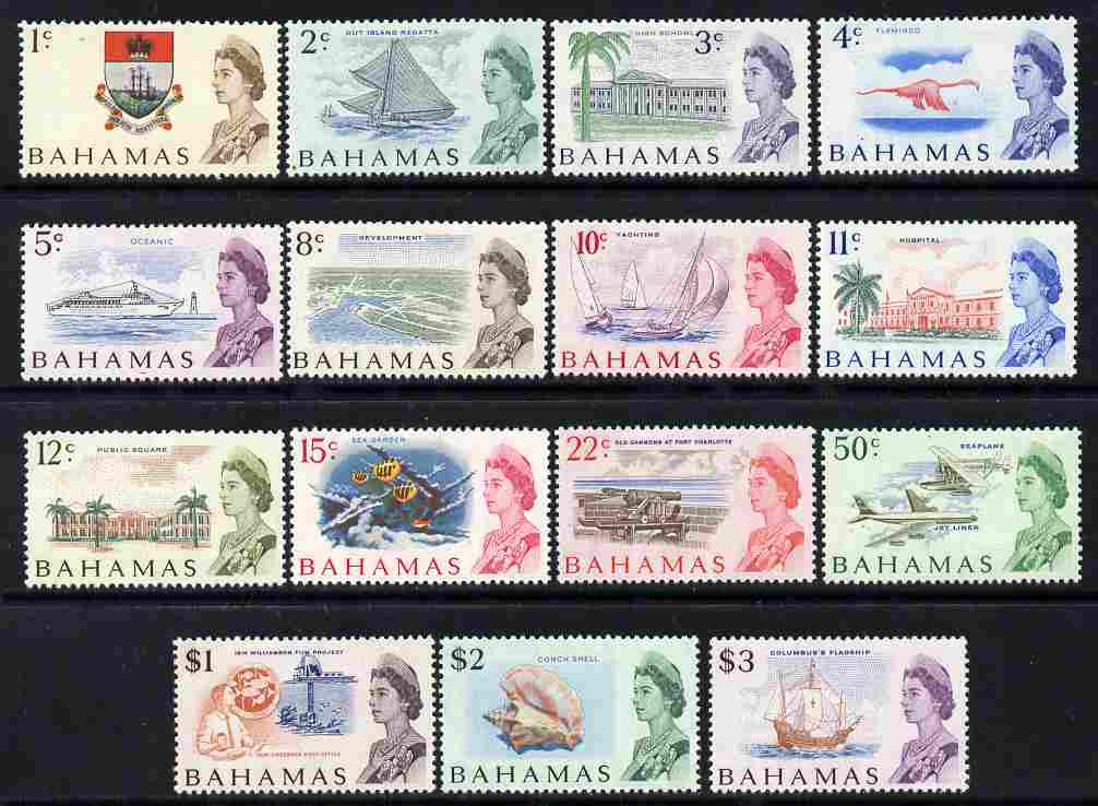 Bahamas 1967-71 New Currency definitive set complete 15 values unmounted mint, SG 295-309