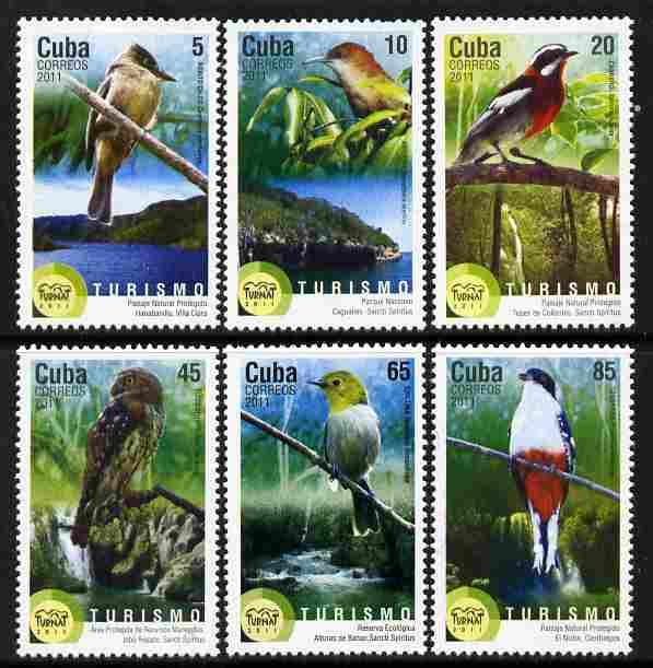 Cuba 2011 Tourism - Birds perf set of 6 unmounted mint