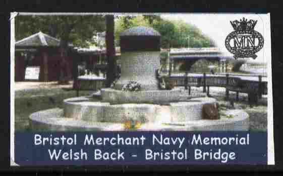 Cinderella - Great Britain 2001 Bristol Merchant Navy Memorial undenominated self-adhesive label unmounted mint
