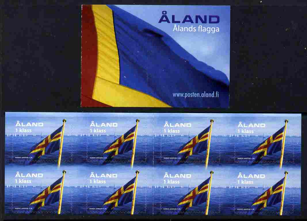 Booklet - Aland Islands 2004 50th Anniversary of Aland Flag 4.80 Euro self-adhesive booklet complete and fine SG SB13
