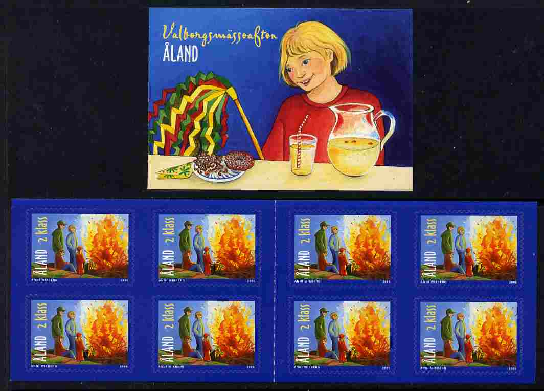 Booklet - Aland Islands 2005 Walpurgis Night 4.00 Euro self-adhesive booklet complete and fine SG SB16