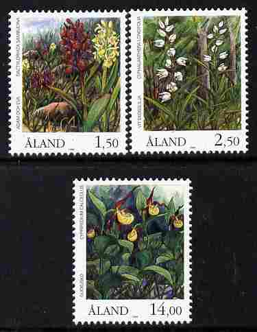 Aland Islands 1989 Orchids perf set of 3 unmounted mint SG 36-38