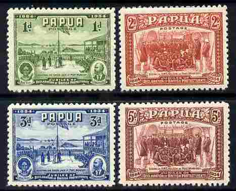 Papua 1934 50th Anniversary of Declaration set of 4 mounted mint SG 146-49