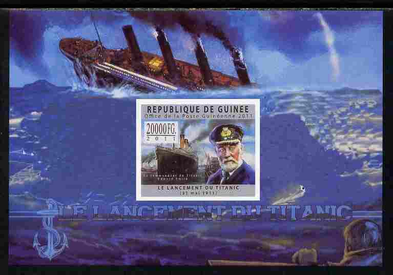 Guinea - Conakry 2011 Sinking of the Titanic #2 imperf deluxe sheet unmounted mint. Note this item is privately produced and is offered purely on its thematic appeal