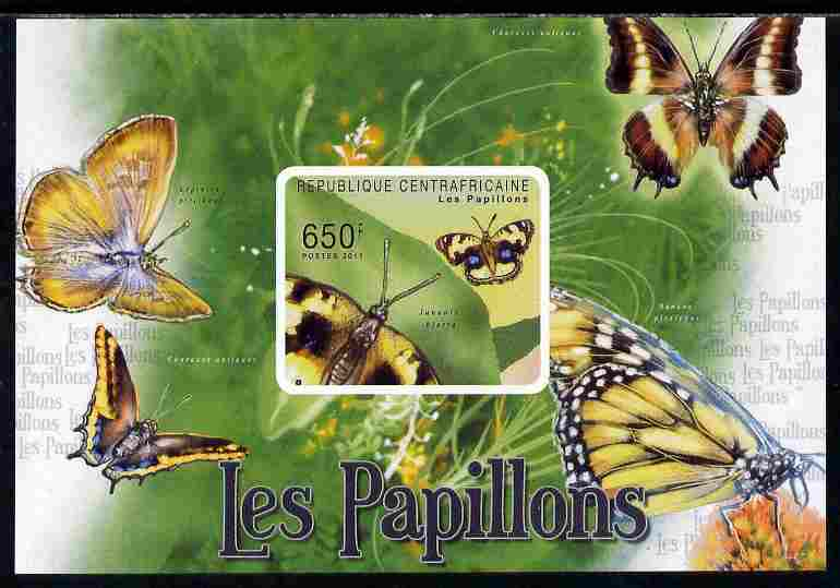 Central African Republic 2011 Butterflies #3 imperf deluxe sheet unmounted mint. Note this item is privately produced and is offered purely on its thematic appeal