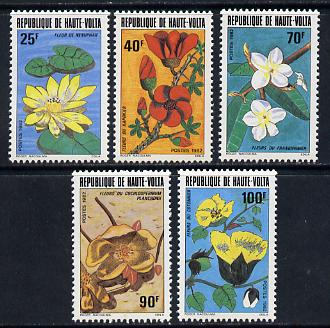 Upper Volta 1982 Flowers set of 5 unmounted mint SG 639-43