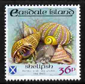 Easdale 1988 Flora & Fauna perf definitive 36p (Shell) unmounted mint
