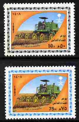 Saudi Arabia 1987 World Food Day set of 2 unmounted mint SG 1540-41