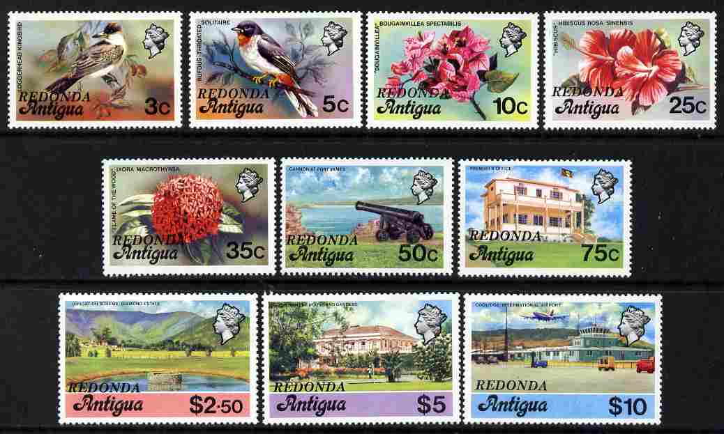Antigua - Redonda 1979 defintive set of 10 values to $10 overprinted for use in Redonda, unmounted mint